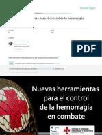 Nuevas Herramientas Para El Control de La Hemorragia Catedra Emergencias Malaga 2014 Resumen