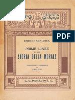 Sidgwick - Prime Linee Di Una Storia Della Morale