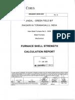 2B0422G1-M350-D001 Rev 0 - Furnace Shell Strength Calculations Report