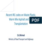 5 (1).Recent IRC Codes on Waste Plastic, Warm_SK Nirmal