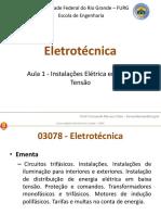 Aula 1 - Instalações Elétricas Em BT