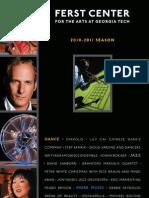 Ferst Season Brochure 2010-2011