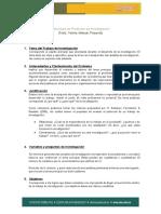 Protocolo y estructura de Trabajo para Titulación UDES