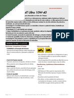 Adj-10 Shell Advance 4t Ultra 10w 40 Tds