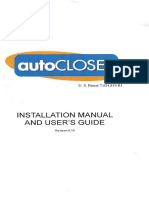 Garage Door Autocloser Manual