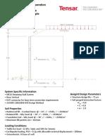 Mesa Wall TensarSoil Design Example (Metric)