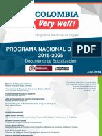 Programa Nacional de Inglés 2025