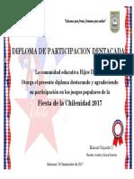 Diploma Fiesta Criolla