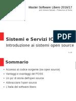 MasterSL ICT 01.Introduzione Ai Sistemi OpenSource