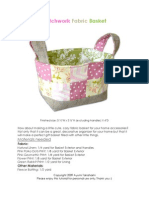 Patchwork Fabric Basket