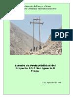 Estudio de Prefactibilidad Del Proyecto P.S.E San Ignacio II Etapa