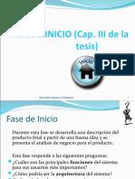 FASE DE INICIO (Cap. III de la tesis)