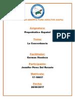 Propedéutico Español de La Concordancia