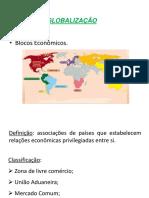 Globalização e Blocos Econômicos