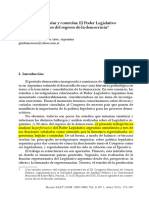 Moscoso - Representar, Legislar y Controlar. El Poder Legislativo Argentino
