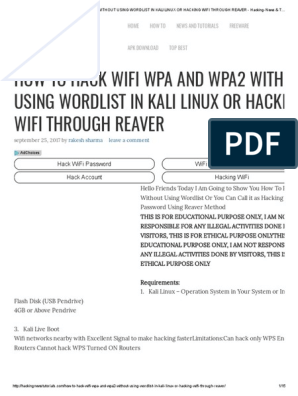 How to Hack Wifi Wpa and Wpa2 Without Using Wordlist in Kali