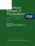 Revisión Aplicaciones Dbt -American Journal of Psychotherapy Vol. 69 No. 2 2015- 8a. 125p