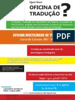 Cartaz Laboratório de Tradução Núcelo PACC Ufrj Logo