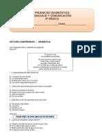 8º Básico Prueba Diagnostico Lengua