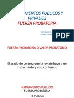 Instrumentos Publicos y Privados