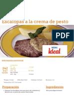 Escalopas a la crema de pesto - Nestlé Cocina.pdf