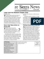 Summer 2007 Delaware Sierra Club Newsletter