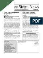 Winter 2007 Delaware Sierra Club Newsletter
