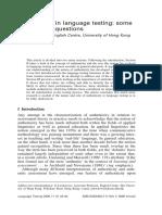 Authenticity in language testing.pdf