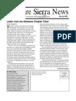 Spring 2008 Delaware Sierra Club Newsletter