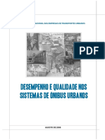 Desempenho e qualidade nos sistemas de onibus urbanos