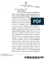 Fallo completo de la jueza Federal María Romilda Servini