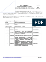 Procedimiento Acceso e Identificacion de Requisitos Legales y de Otra Indole