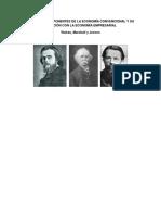 Walras,  Marshall y Jevons