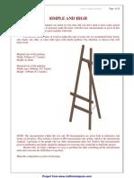 A Frame Tripod Easel Plan