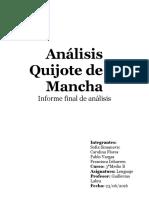 Análisis Quijote de la Mancha