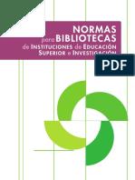 NORMAS para BIBLIOTECAS de IES.pdf