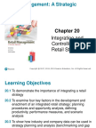 20.Integrating and Controlling the Retail Strategy