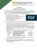 Acta 001 Conformacion de Sociedad