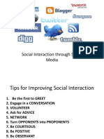 Social Interaction and Social Media