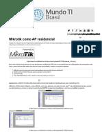 Mikrotik Como AP Residencial _ Mundo TI Brasil