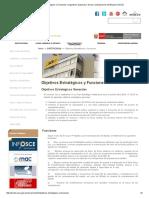 Objetivos Estratégicos y Funciones _ Organismo Supervisor de Las Contrataciones Del Estado (OSCE)