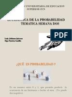 TEMATICA SEMANA DOS ESTADISTICA DE LA PROBABILIDAD