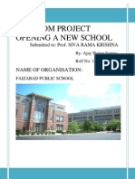 Project on new school