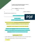 Incident Report - Apparent Falsifications