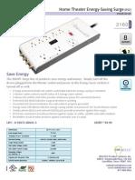 SMART Surge AV, 8 Outlets, 5ft Cord