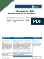 Causas y Consecuencias de La Intervención Francesa en Mx