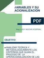 Las Variables y Su Operacionalización Mix.