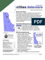 Jan 2010 Cool Cities Deleware Newsletter