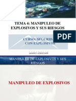 Tema 4 Manipuleo de Explosivos y Sus Riesgos