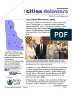 July 2010 Cool Cities Deleware Newsletter